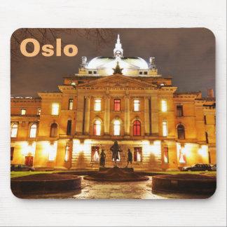 Mousepad Oslo, Noruega na noite