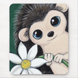 Mousepad Ouriço lunático bonito que guardara uma flor