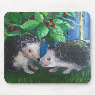 Mousepad Ouriços na pintura a óleo do amor