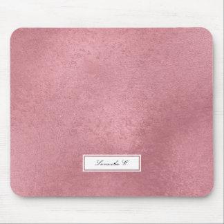 Mousepad Ouro cor-de-rosa do falso moderno