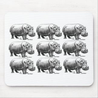 Mousepad ouro do hippopotamus