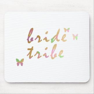 Mousepad ouro elegante e tribo cor-de-rosa da noiva do ouro