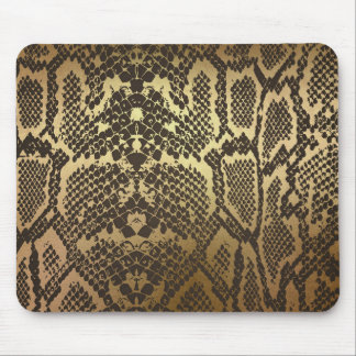 Mousepad Ouro Glam moderno do impressão da pele de cobra