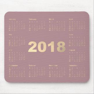 Mousepad Ouro malva do falso de Lavanda do calendário 2018