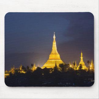 Mousepad Pagode de Shwedagon na noite