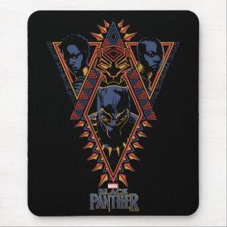 Mousepad Painel tribal dos guerreiros da pantera preta |