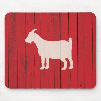 Mousepad Painel vermelho da madeira do celeiro da cabra