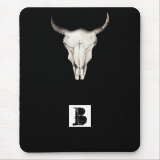 Mousepad País ocidental rústico de chifres de Bull da vaca
