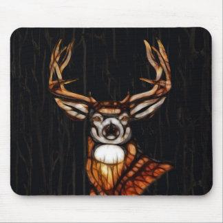 Mousepad País rústico dos cervos de madeira de madeira