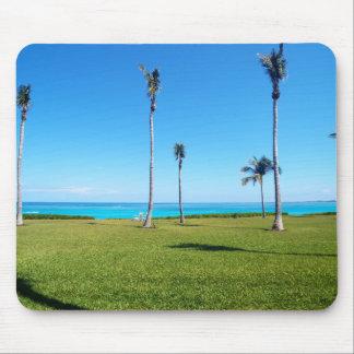 Mousepad Paisagem do oceano e da palma