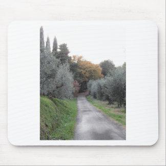 Mousepad Paisagem rural com a estrada asfaltada no outono