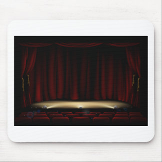 Mousepad Palco do teatro com cortinas do teatro