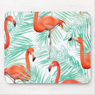 Mousepad Palma do flamingo e da hortelã