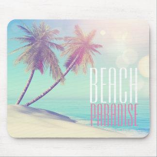 Mousepad Palmeira retro bonita   do paraíso da praia