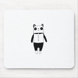 Mousepad Panda preto e branco pequena