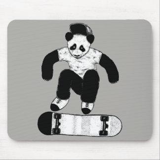 Mousepad Panda Skateboarding