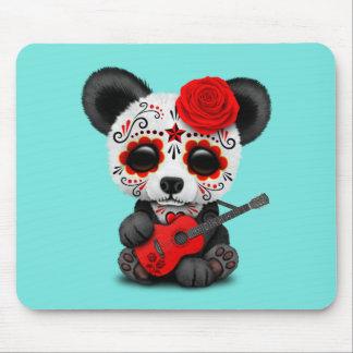 Mousepad Panda vermelha do crânio do açúcar que joga a
