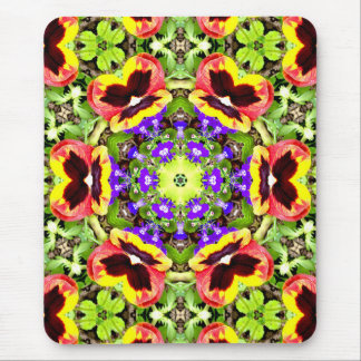 Mousepad Pansies do ~ e ~ do Fractal do Lobelia