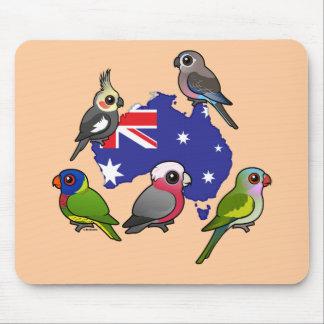 Mousepad Papagaios australianos