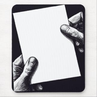 Mousepad papel de nota vazio