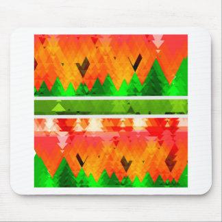 Mousepad Papel de parede temático da queda verde alaranjada