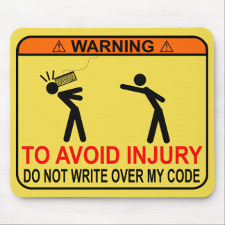 Mousepad Para evitar ferimento, não escreva sobre meu