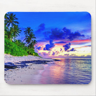 Mousepad Paraíso tropical do por do sol da ilha