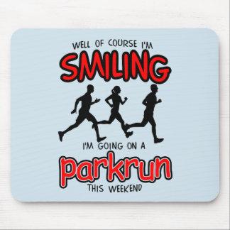 Mousepad Parkrun de sorriso este fim de semana (preto)