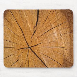 Mousepad Parte de cobrir de madeira rústico da madeira