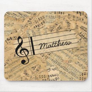 Mousepad Partes da música ID389 do vintage