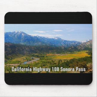 Mousepad Passagem do Sonora da estrada 108 de Califórnia