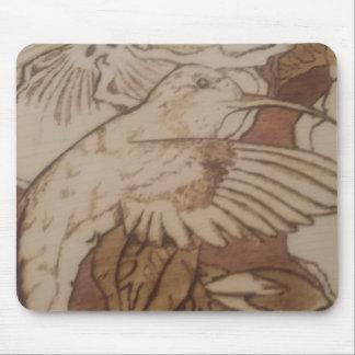 Mousepad Pássaro do zumbido do hibiscus