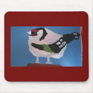 Mousepad Pássaro pintado abstrato do jardim do Goldfinch