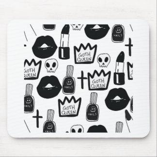 Mousepad pastel goth, queen, horror, terror, gothic, femini