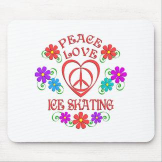 Mousepad Patinagem no gelo do amor da paz