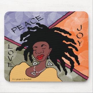 Mousepad Paz, alegria e amor