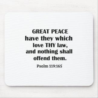 Mousepad Paz do 119:165 do salmo a grande tem-nos que amam