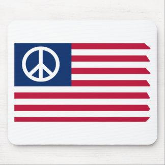 Mousepad Paz e o tapete do rato da bandeira