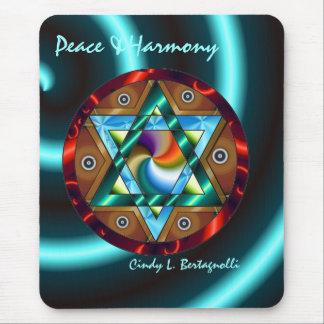 Mousepad Paz & harmonia da estrela de David