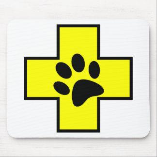 Mousepad pe veterinário do doutor do sinal do símbolo da