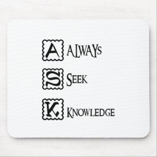 Mousepad Peça, procure sempre o conhecimento