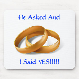 Mousepad Pediu e eu disse SIM!!! Alianças de casamento