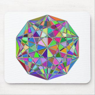 Mousepad Pedra de gema tirada Kaleidescope colorida