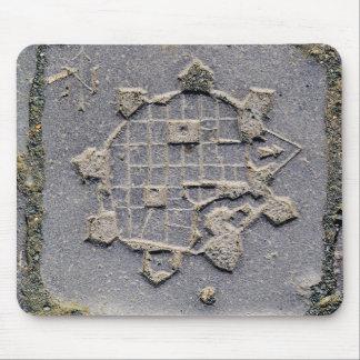 Mousepad Pedra de pavimentação do mapa da citadela de