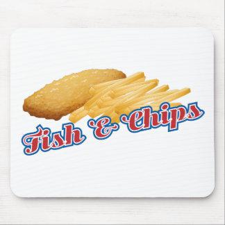 Mousepad Peixe com batatas fritas