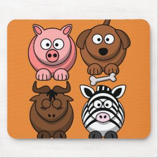 Mousepad Personalize animais bonitos da criança