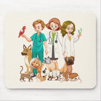 Mousepad Pessoas veterinárias do fundo