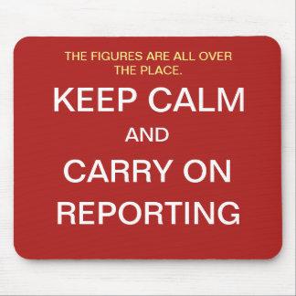 Mousepad Piada engraçada das citações do relatório