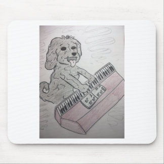 Mousepad piano do filhote de cachorro