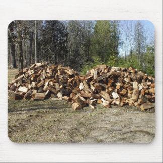 Mousepad Pilha da madeira